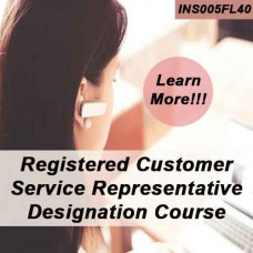 REGISTERED CUSTOMER REPRESENTATIVE DESIGNATION COURSE (RCSR) ONLINE