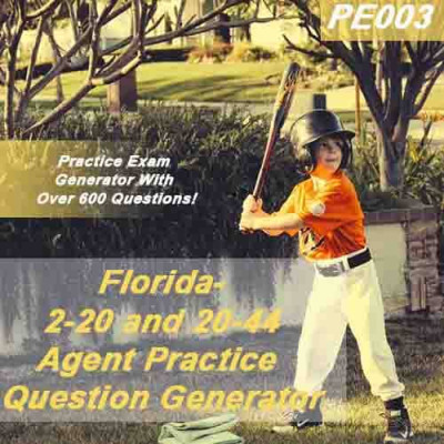 Florida 2-20 and 20-44 Agent Practice Question Generator (PE003)